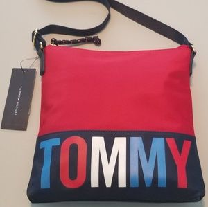 NWT Tommy Hilfiger XBODY TOMMY Bag Purse Red White